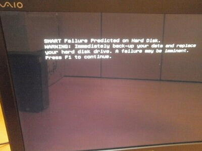 SMART Failure Predicted on Hard disk